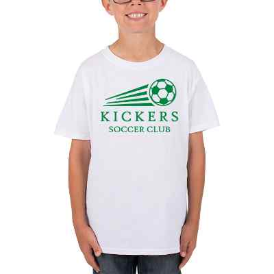 White personalized child t shirt.