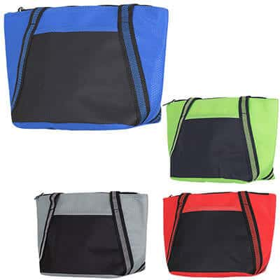 Polypropylene and polyester royal blue cooler tote blank.