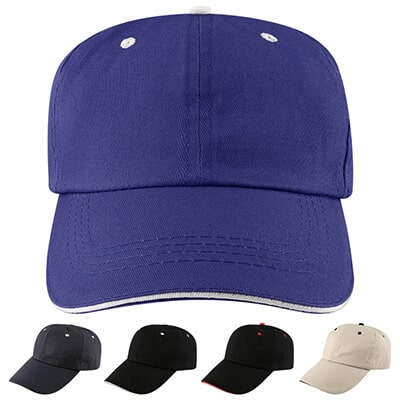 Blank royal blue with white hat.