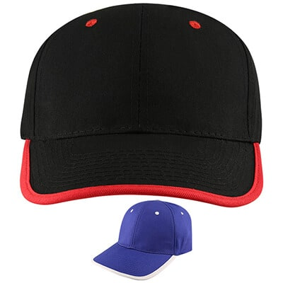 Blank black with red hat.