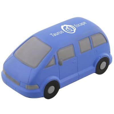 Foam minivan stress reliever logoed with printed.