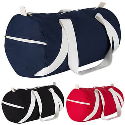 Cottom canvas navy duffel blank.