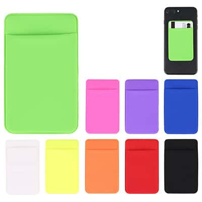 Spandex lime green phone wallet blank.