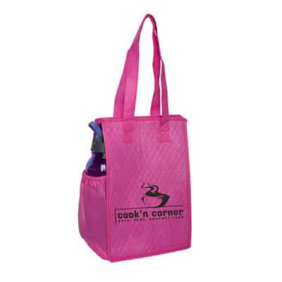 Polypropylene brite pink thermo snack lunch bag personalized.