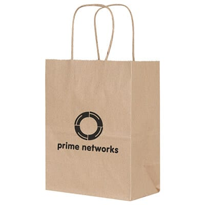Paper kraft eco rizzo bag recyclable bag imprinted.