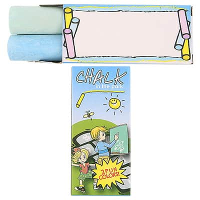 Cardboard 2 pack large chalk blank.