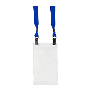 Double Clip Lanyard Badge Holder