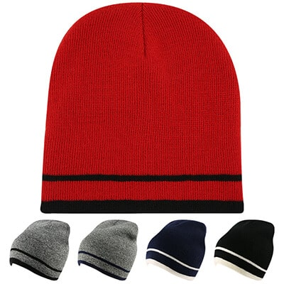 Blank red with black beanie.