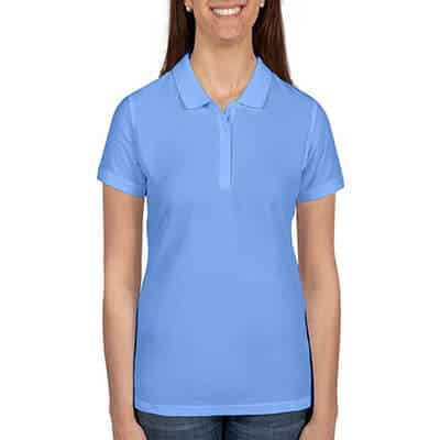 Blank carolina blue collared polo.