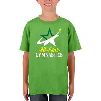 Full color electric green child printable t shirt.