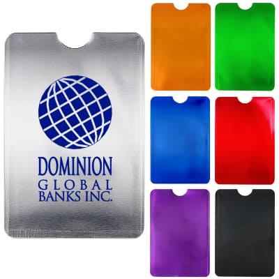 Silver RFID blocking phone wallet with a personalized imprint!