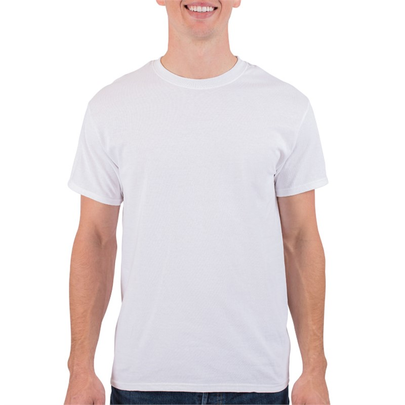 Customized cotton white short sleeve shirt.