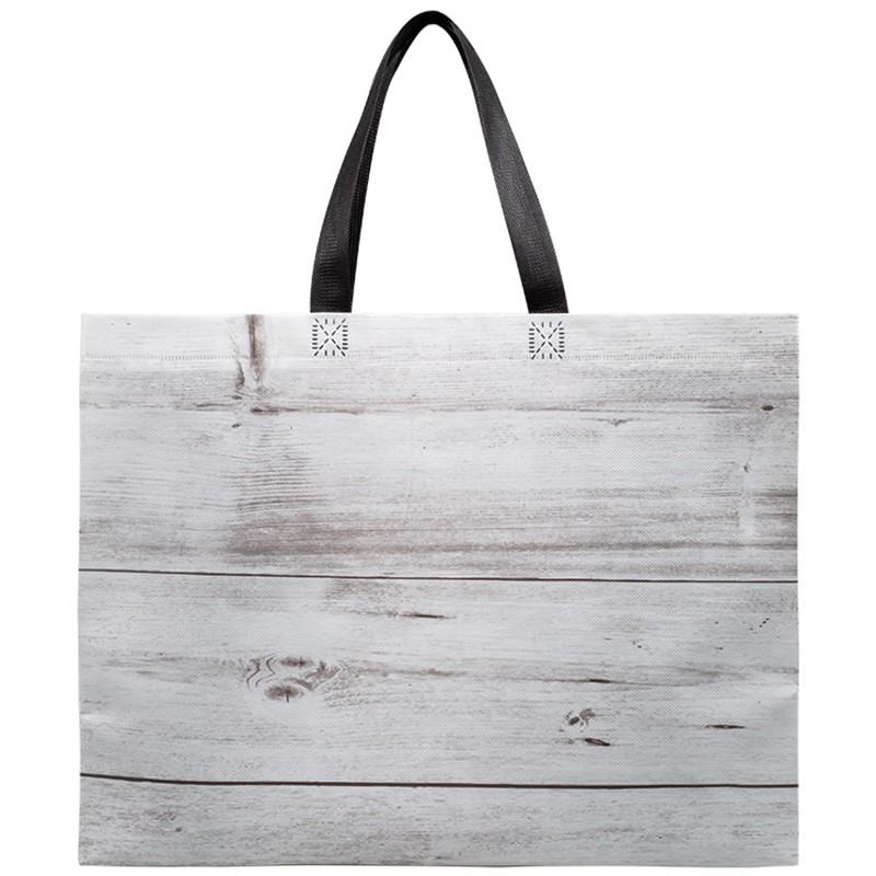 Blank Wood Grain Laminated Tote Bag