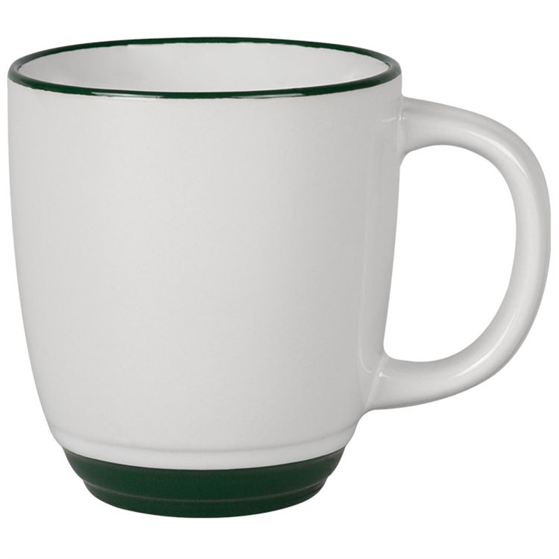Ceramic coffee mug with c-handle blank in 14 ounces.