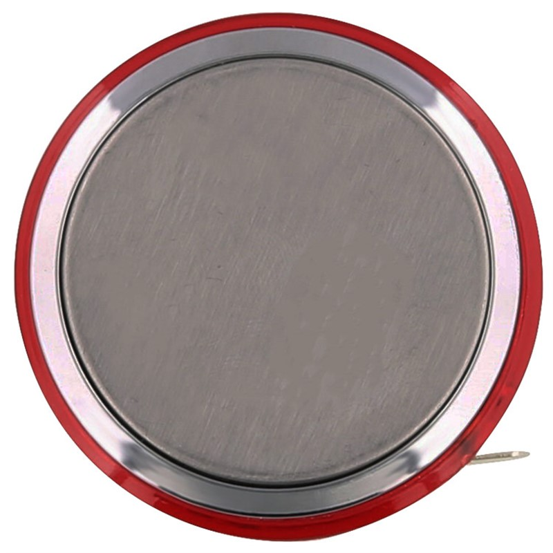 engraved circle mini tape measure