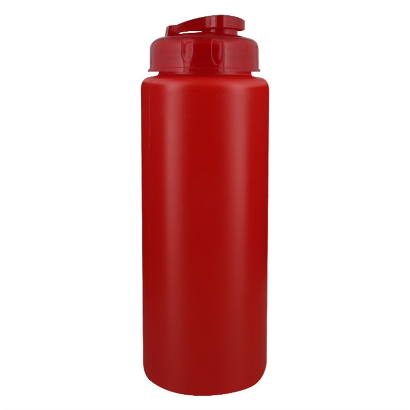 Plastic water bottle blank with flip top lid in 32 ounces.