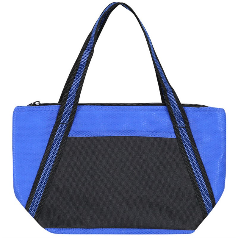 Polypropylene and polyester cooler tote.