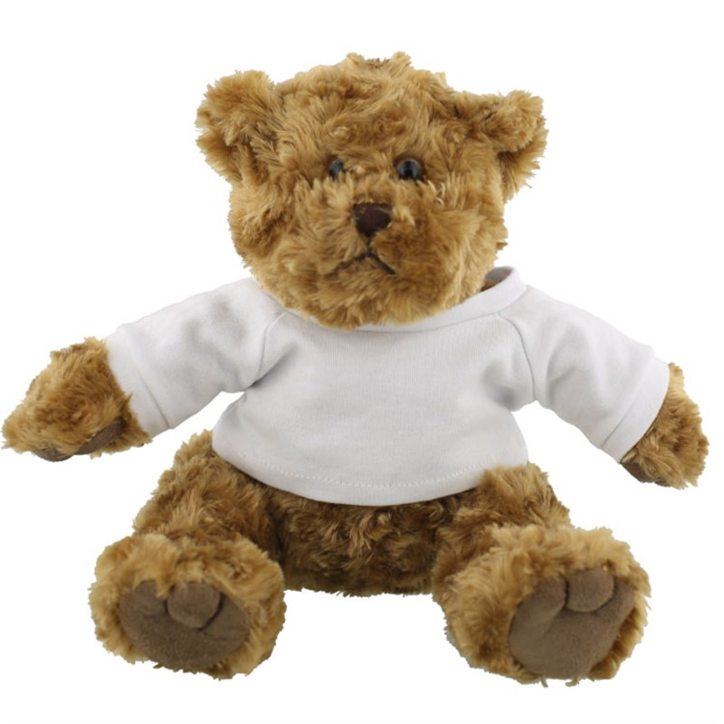 Plush and cotton traditional teddy brown bear.