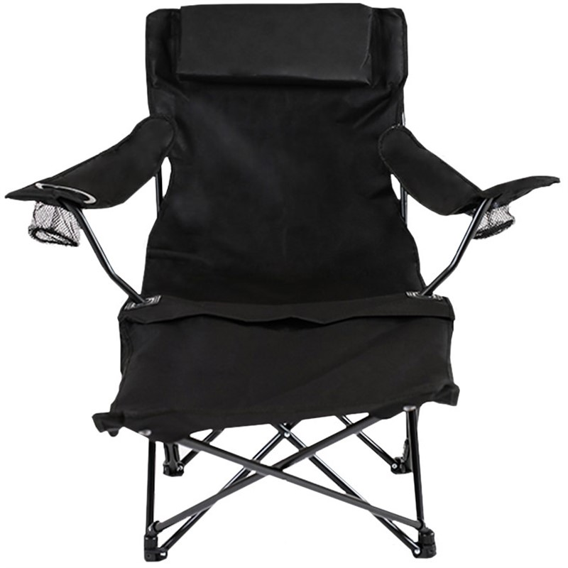 Reclining folding chair with leg rest blank.