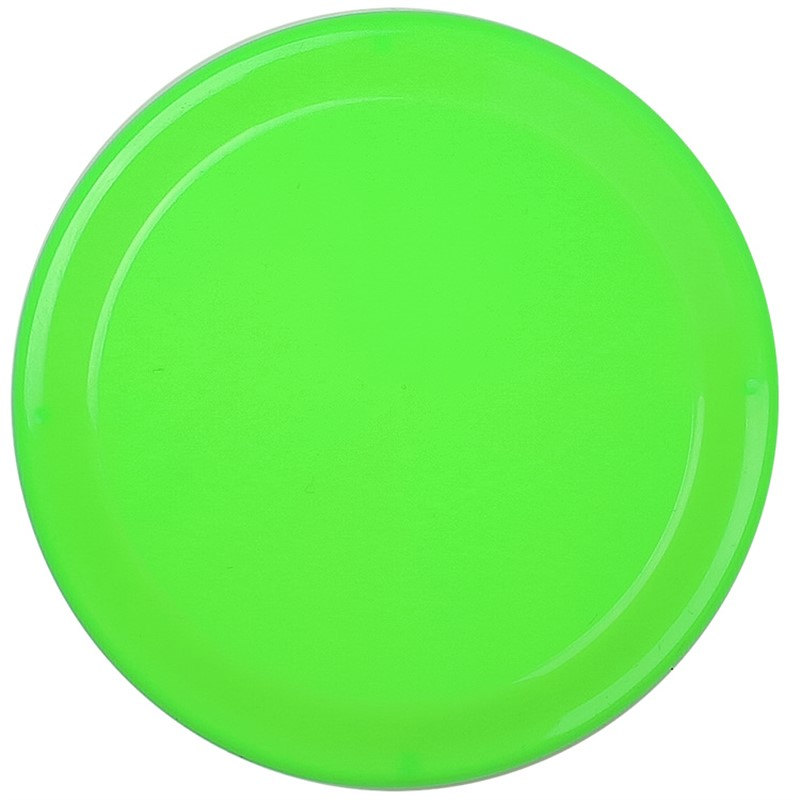 Recycled polypropylene mini flying disc.