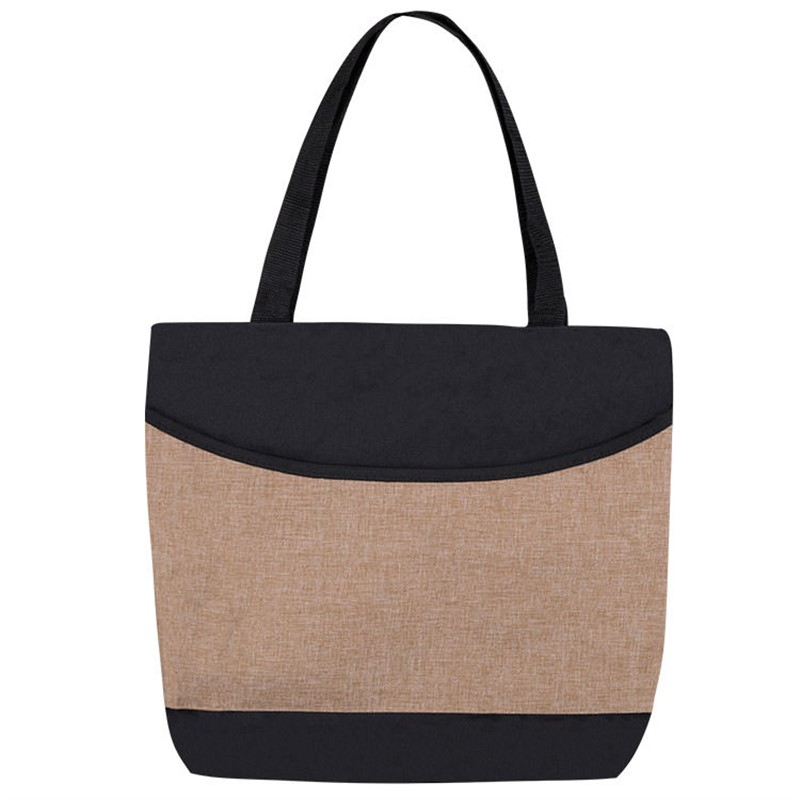 Custom Crest Line Canvas Tote Bag