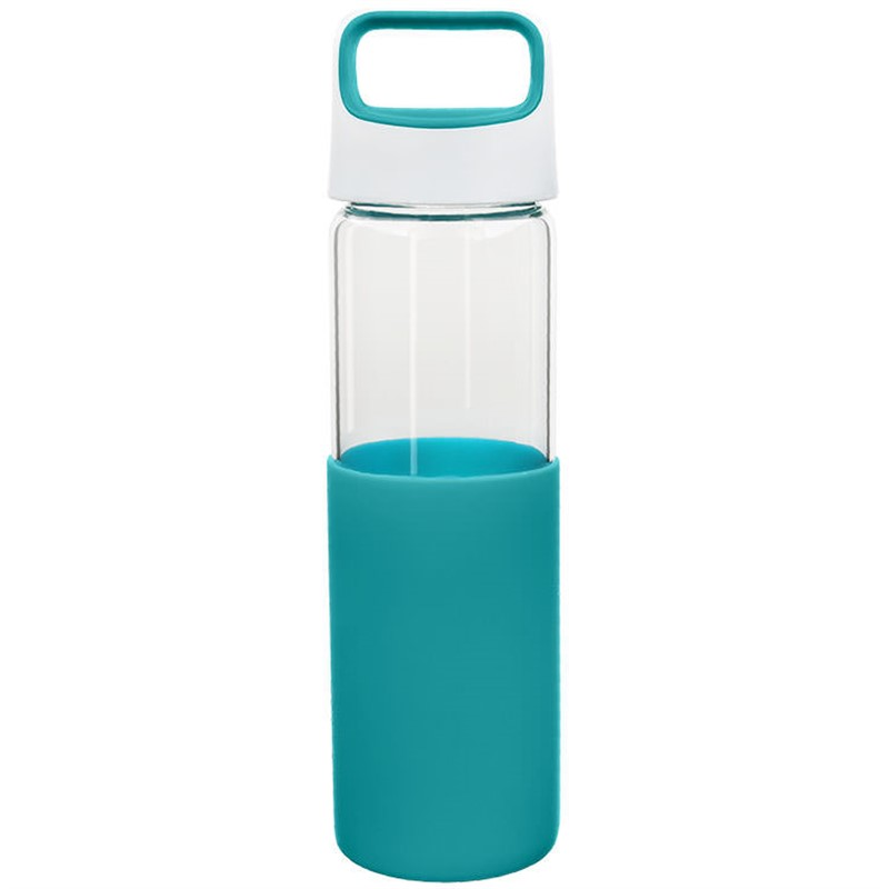 Glass water bottle blank in 20 ounces.