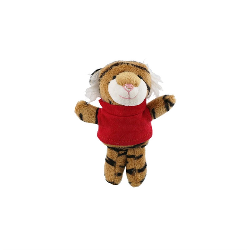Plush and cotton magnet tiger.