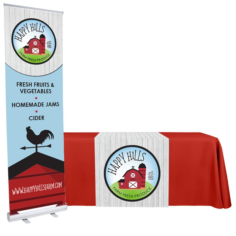 Banner Stand and 30 x 72 Runner