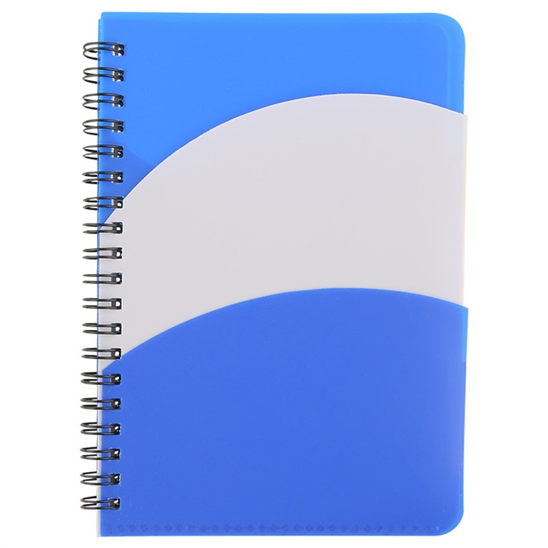 Notebook with two front cover pockets.