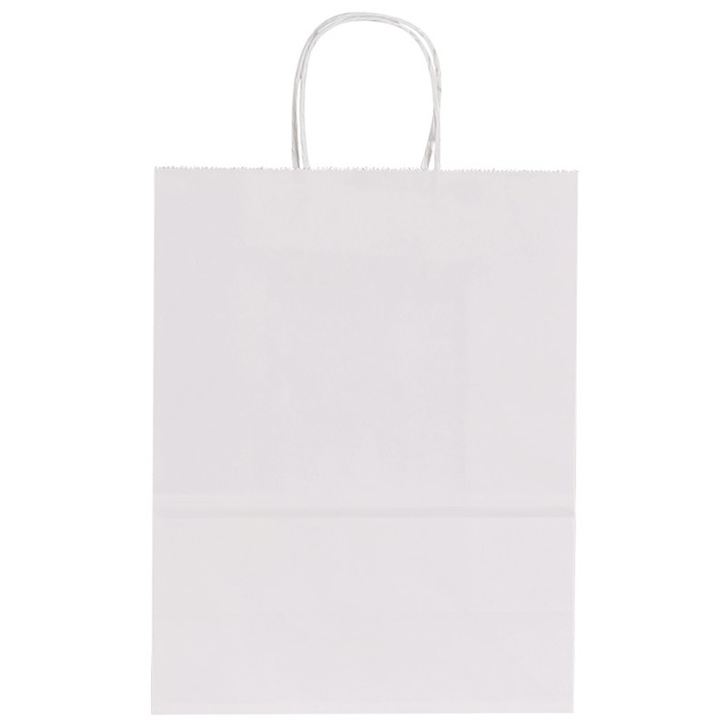 Foil Imprint White Paper Bag