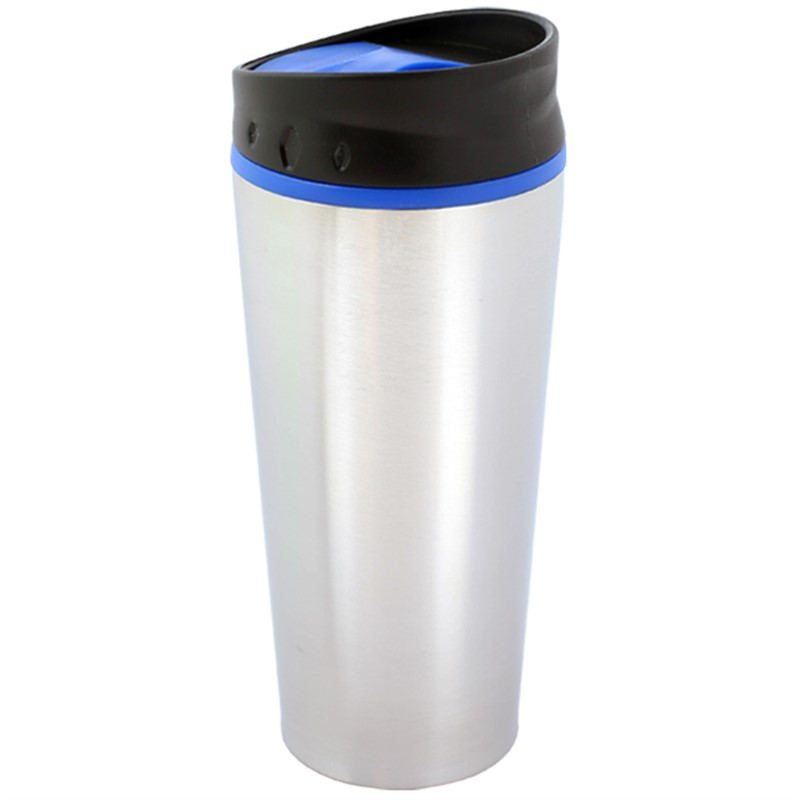 Stainless steel tumbler blank in 16 ounces.