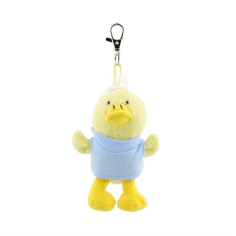 Plush and cotton key tag duck blank.