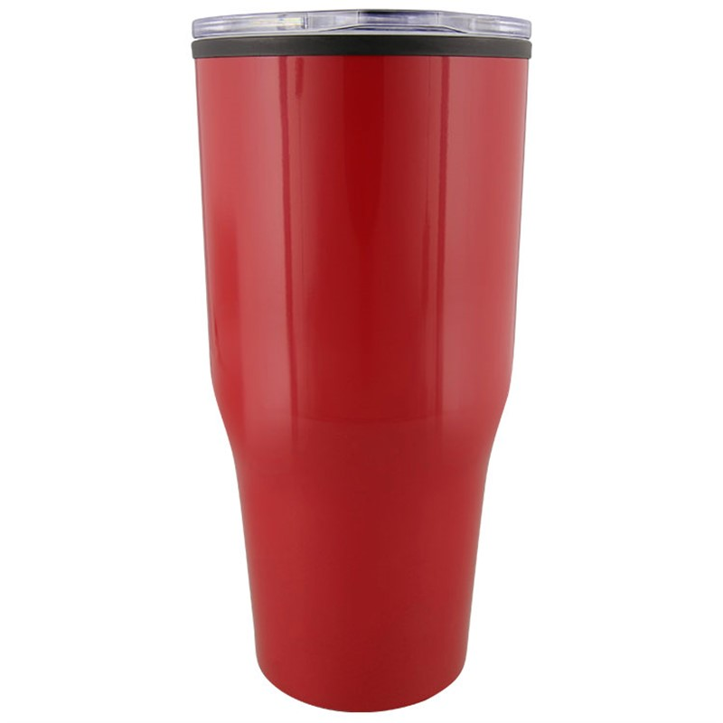 Stainless steel red tumbler blank in 30 ounces.