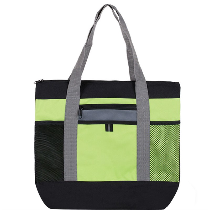 Custom Tri-Color Polyester Tote