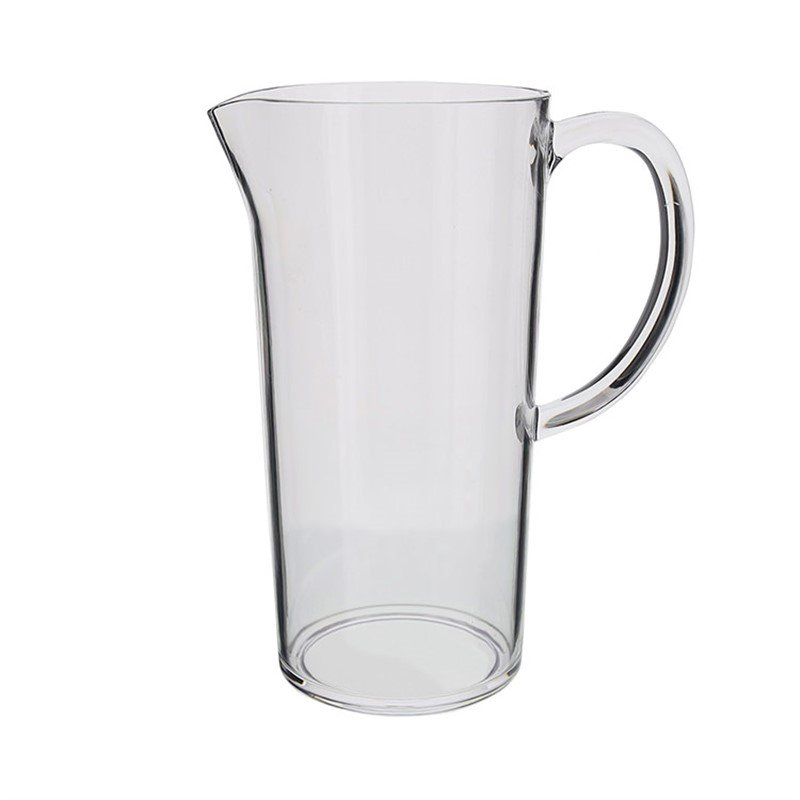 Acrylic clear beer pitcher in 40 ounces.