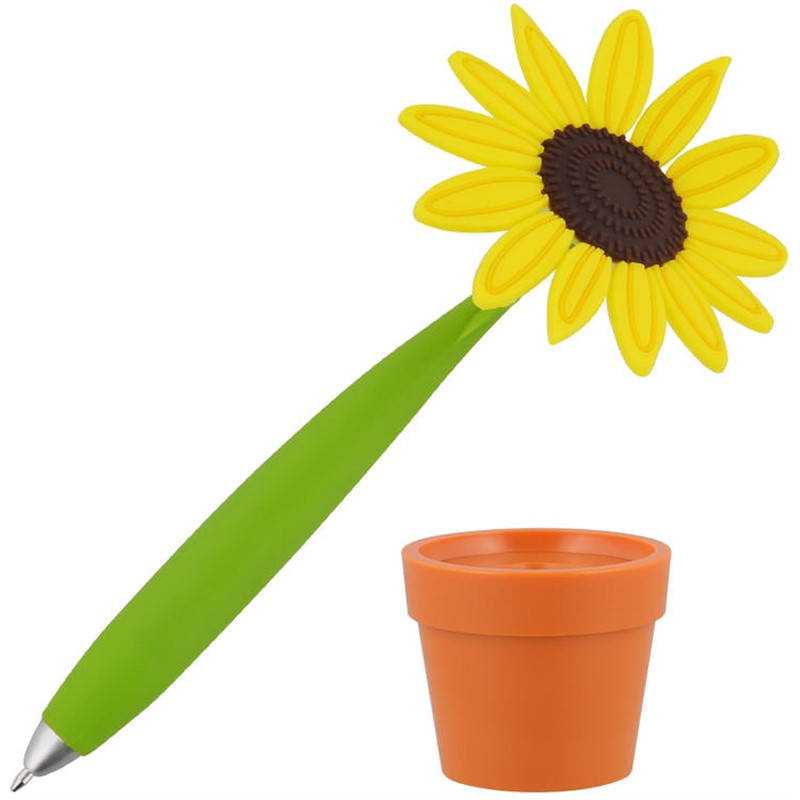 potted sunflower pen
