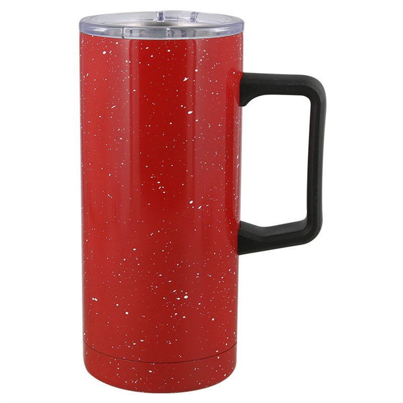 Stainless steel red tumbler blank in 17 ounces.