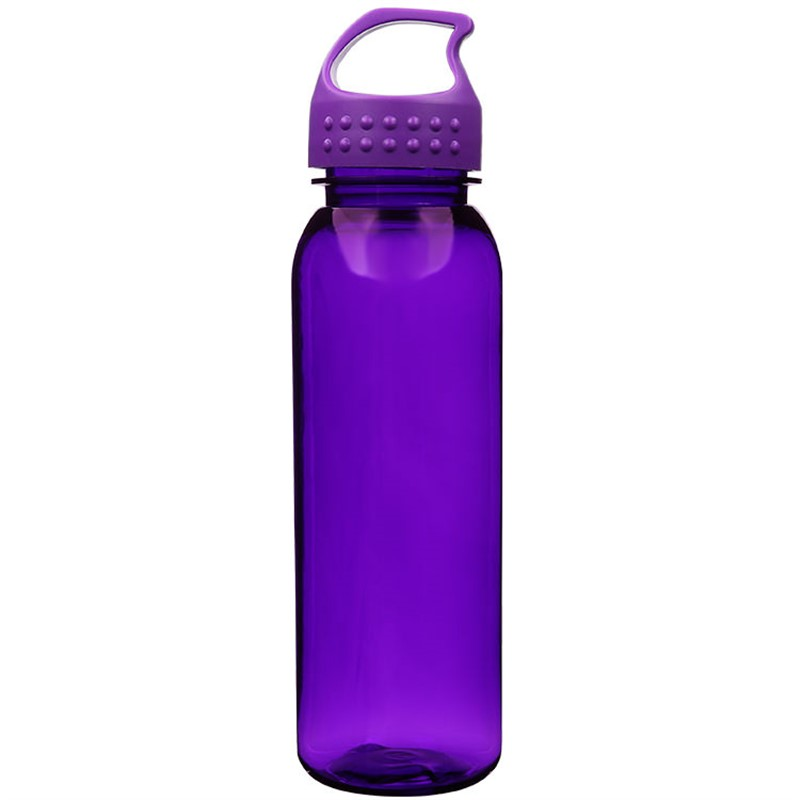 Tritan green water bottle with custom imprint and screw on lid in 24 ounces.