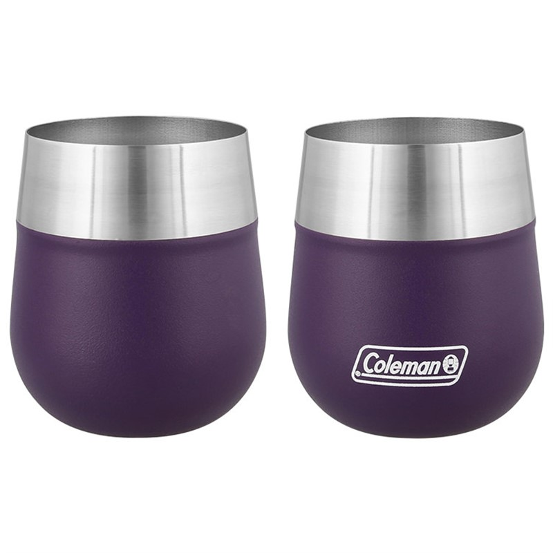 Stainless steel wine tumbler in 13 ounces.