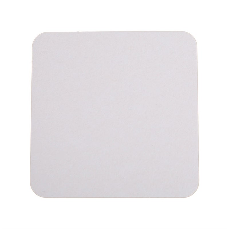 Blank square pulpboard coaster.