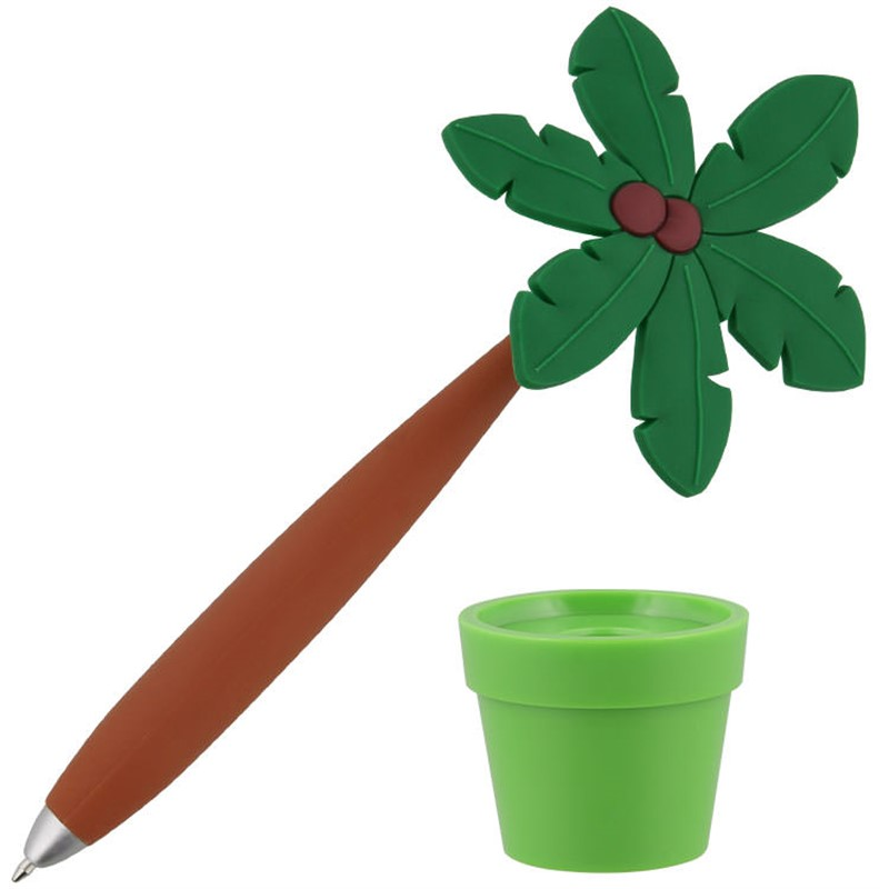 potted palm tree pen