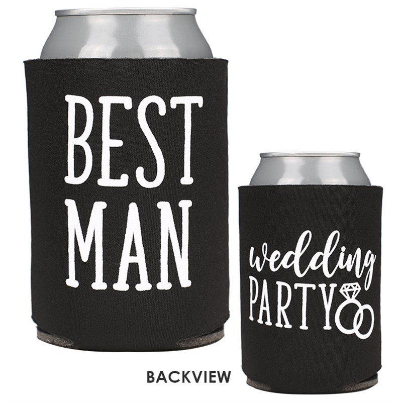 Best Man Wedding Party Can Cooler