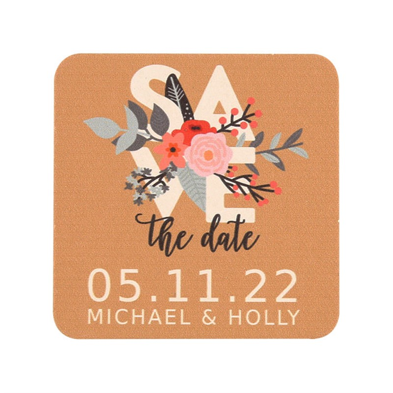 Vintage Save the Date Coasters