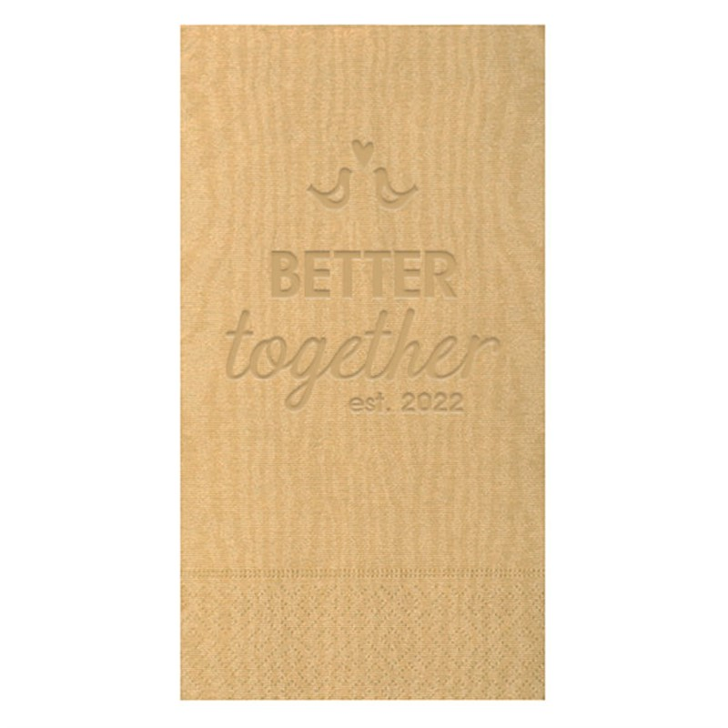 2Ply tissue moire pattern guest towel napkins.