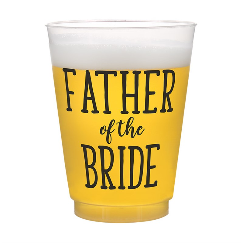 Father of the Bride Frosted Wedding Party Cup