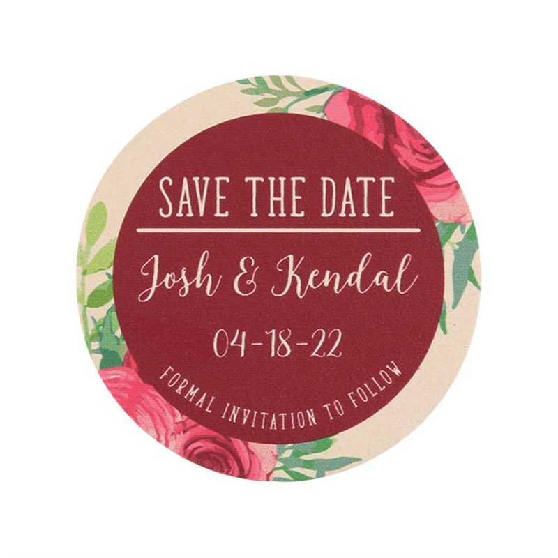 Custom Save the Date Coasters