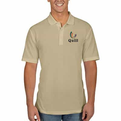 Wheat embroidered collared polo.
