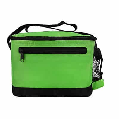 Nylon lime green delta 6 pack cooler bag blank.