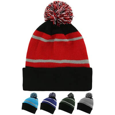 Blank black with red beanie.