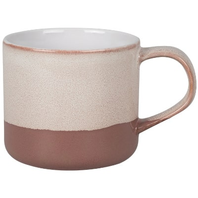 Ceramic brown coffee mug with c-handle blank in 15 ounces.